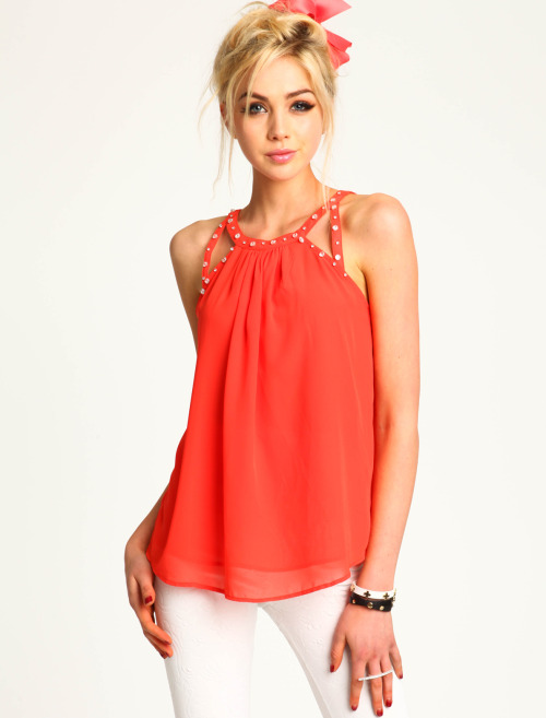 Rhinestone Chiffon Top - also in navy Loveculture.com - $19.90