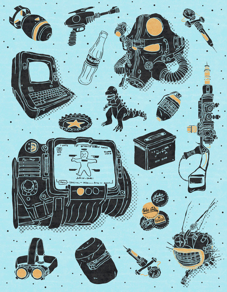 theawkwardgamer:  Artifacts: Fallout by Josh Ln (Society6)