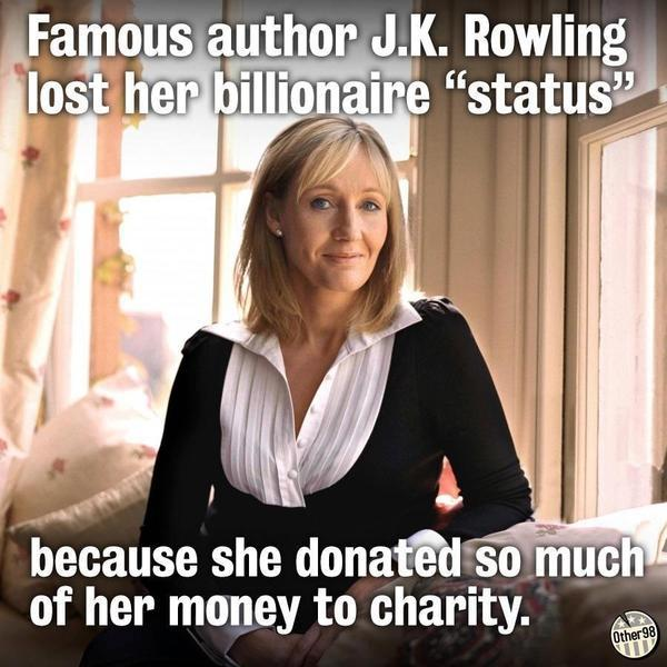 J.K. Rowling - J.K. Rowling becomes the first person to fall off the Forbes Billionaire List because