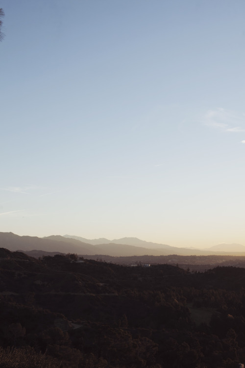 LA hills from my run at sunrise.