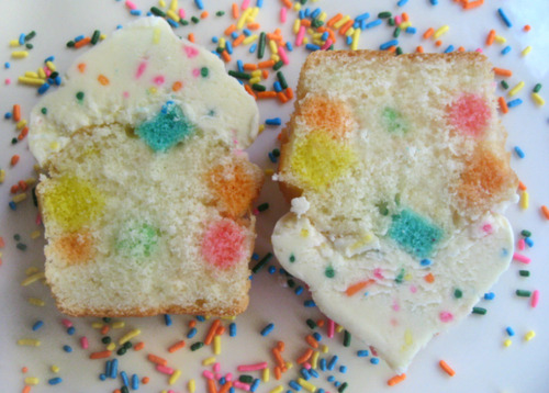 How about some fun confetti cupcakes for your New Year's celebration? Here's the recipe!