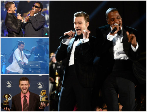 "Six-time GRAMMY winner Justin Timberlake's biggest GRAMMY moments: JT and Al Green team up for a performance of ""Let's Stay Together"" at the 51st GRAMMY Awards in 2009 Arturo Sandoval joined JT for a performance of ""Senorita"" at the 46th GRAMMY Awards in 2004 JT takes home his first GRAMMYs at the 46th GRAMMY Awards in 2004; Best Pop Vocal Album ['Justified'] & Best Male Pop Vocal Performance [""Cry Me A River""] JT makes his comeback musical performance alongside Jay-Z for a performance of ""Suit & Tie"" & ""Pusher Lover Girl"" at the 55th GRAMMY Awards in 2013"