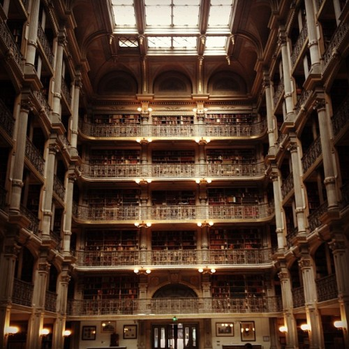 "instagram:  The World's Most Beautiful Libraries ""Without libraries what have we? We have no past and no future."" -Ray Bradbury For centuries, books have housed the collective knowledge of the world and formed the foundations of educational institutions. Given that these objects that contain such value, it only makes sense that throughout history people have constructed beautiful buildings to house them. We put together a list of some of the most beautiful libraries as captured by Instagrammers around the world. For more photos from these architectural wonders, check out their linked location pages below. Stuttgart City Library, Stuttgart, Germany Trinity College Library, Dublin, Ireland Library of Alexandria, Alexandria, Egypt Real Gabinete Português de Leitura, Rio de Janiero, Brazil The Royal Danish Library, Copenhagen, Denmark George Peabody Library, Johns Hopkins University, Baltimore, MD Kanazawa Umimirai Library, Kanazawa City, Japan New York Public Library, New York City, NY"