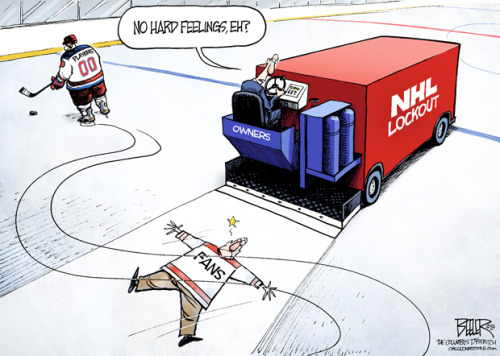 cbssports:  The NHL lockout summed up in one cartoon… (via the The Columbus Dispatch)