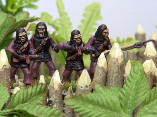"Crooked Dice  ""Simian Soldiers"" Miniatures"