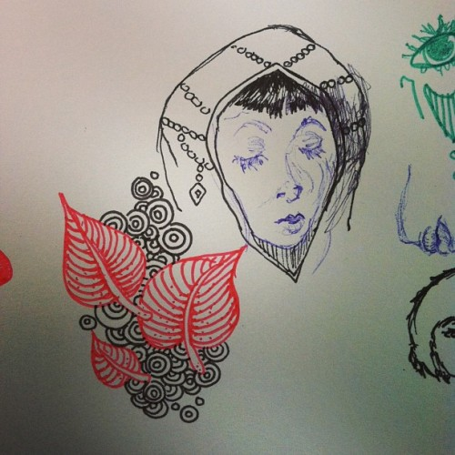 Little pen #doodles. #sketchbook #micron #ballpoint