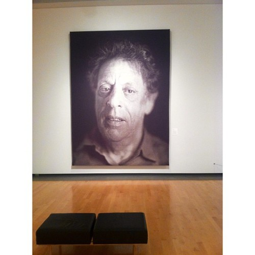 jonnicheatwood:  Chuck Close tonite. (at Phoenix Art Museum)