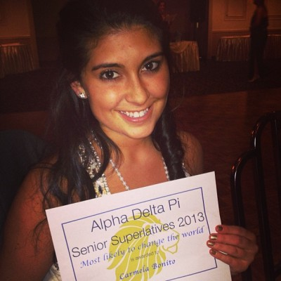 Most likely to change the world 🌎💙 #seniorsuperlatives #formal #adpi