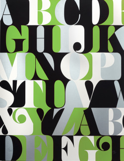 karenh:  Green Caslon Alphabet Print from House Industries