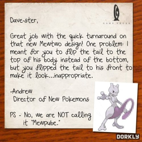 dorkly:  How the New Mewtwo Form Was Designed
