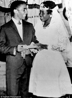 secretsthatsell:  Today would have been the wedding anniversary of Bob and Rita Marley. February 10, 1966.