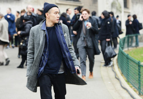 youbroketheinternet:  gqfashion:  Street Style: Paris Fashion Week  Eugene was my favorite in almost all shots