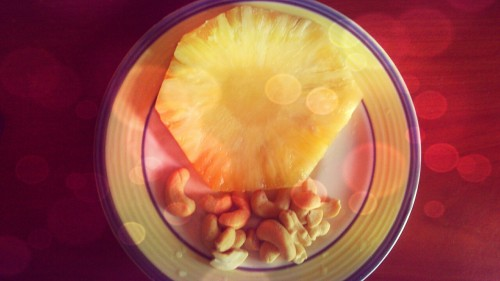 Snack: Pineapple and Cashews