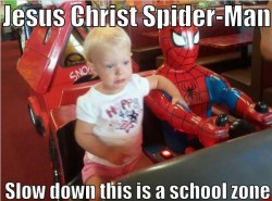 Whoever said Spider-Man was good with kids?