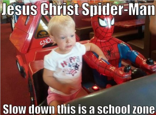 thesochillnetwork:  Whoever said Spider-Man was good with kids?