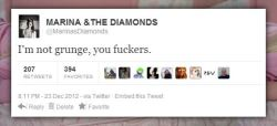 Marina has spoken.