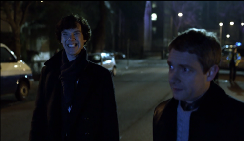 thescienceofjohnlock:  earlgraystripe:  imagine-pendragons:  i was watching sherlock and i paused it to get a drink and omg i'm crying help  that's the face of a man who got the d  Which one?