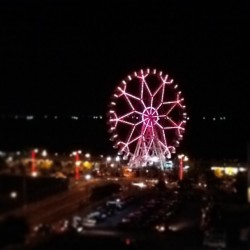 View of the ferris wheel from the rooftop parking lot :)  #MoA