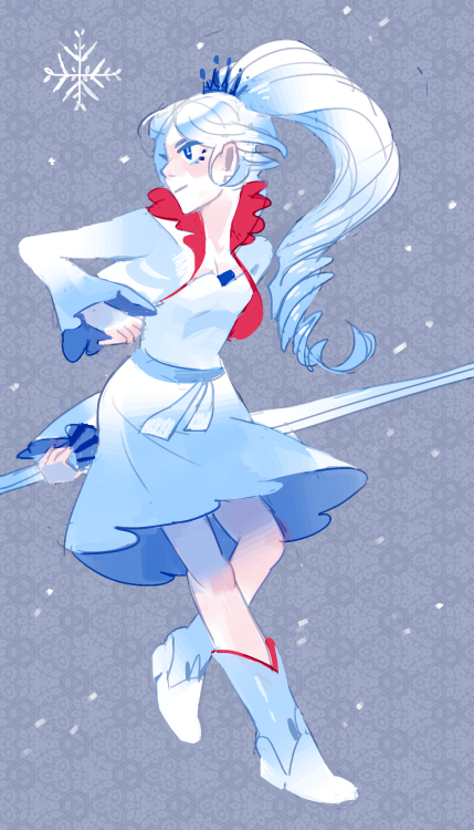 chocochimbu:  hey friend you look down, i know you like weiss so here's a doodle to cheer you up