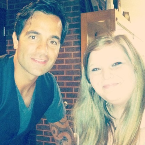 Me and the fabulous Ramin Karimloo. Sorry I'm so white. 🎭💜💜💜💜