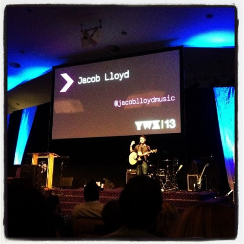 Jacob Lloyd (@jacoblloydmusic) on stage at #yws13