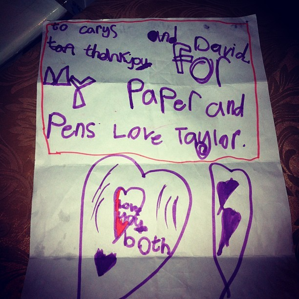 Sooooo cute!! Little note from my future niece Taylor!! 😁❤ #cute