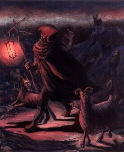 "dark-mother:           ""The Goat herder"" by L M Megyesi"
