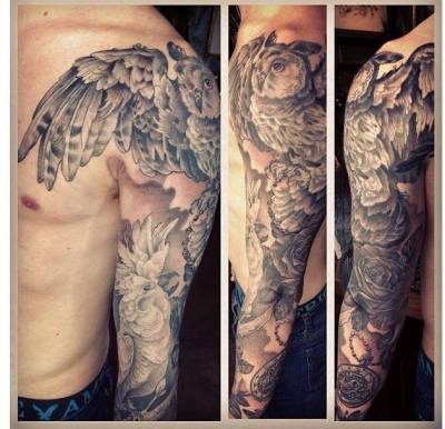 My sleeve done by James Robinson owner of Gilded Cage Tattoo Studio Brighton, UK