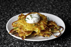 foodopia:  potato latkes with parsnip: recipe here