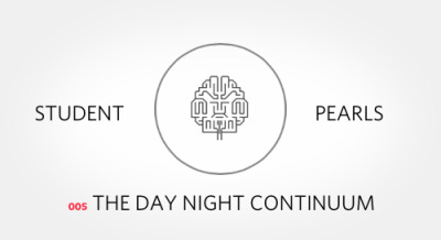 "The Day Night Continuum. The longer you immerse yourself into the life of a clerk, the more you find the days and nights bleeding together. Days become nights; nights become days.  Sometimes it is the baby that needs delivering in the dead of night, other times it is the last minute consult that takes you much longer to work up than anticipated; often it is just a call shift. These are the rites of passage that every doctor before you has gone through.  The best advice I have received about making it through the days is: ""Sleep when you can."" The day night continuum is endless. There is never a shortage of topics to learn or work to do. At some point, we must all draw the line. We are all human beings and even the best surgeons cannot work relentlessly through the night.  If you have a rare moment to sleep early one night, take advantage of it. If you can afford a moment while on call in between consults to get some shut eye, do so. Sometimes it is not about waiting for the right moment to come but to create the opportunity yourself. Know your own limits. If you feel that you can no longer study for the rest of the night, why push yourself? Go sleep. Next pearl: Moments of Zen…Previous pearl: Need to Know Basis…"