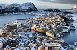 Photography, Aalesund, Norway (by larigan) (via: sailaway-fromthesafeharbor)