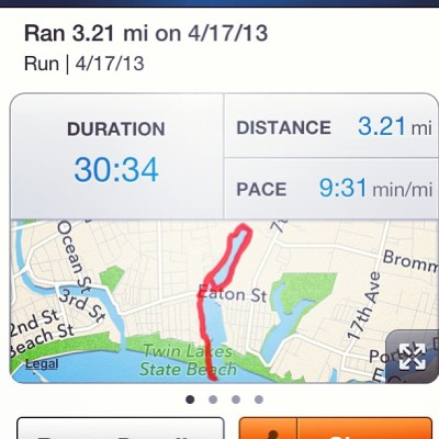 I've never run that distance all at once before 😈