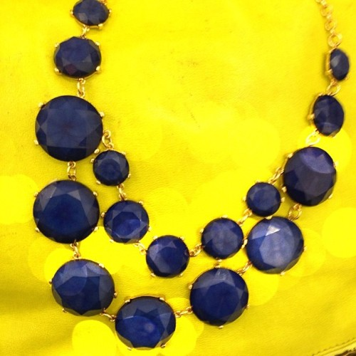 Brighten up with our Alix stone necklace! What would you wear this piece with?  #STTyle #color (at Send the Trend HQ)
