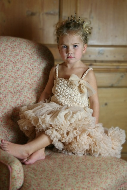 Champagne rosebud dress by Anglesface