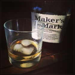 kwanzriphoto:  Getting ready for tomorrow road trip. #makersmark #bourbon #whisky #saturday #winnipeg #canada (at Camden House)