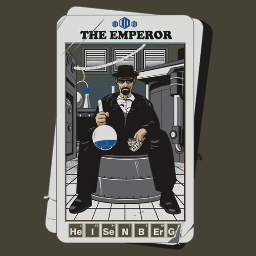 teedrobe:  This and many more Breaking Bad shirts can be found here at teedrobe.com. THE EMPEROR is by t-shirt designer adamspinto. Fancy winning $50 / £35 of FREE t shirts? Enter our competition by reblogging this post. You can get more entires on Facebook and twitter.See here for full contest details and yet more ways to enter.