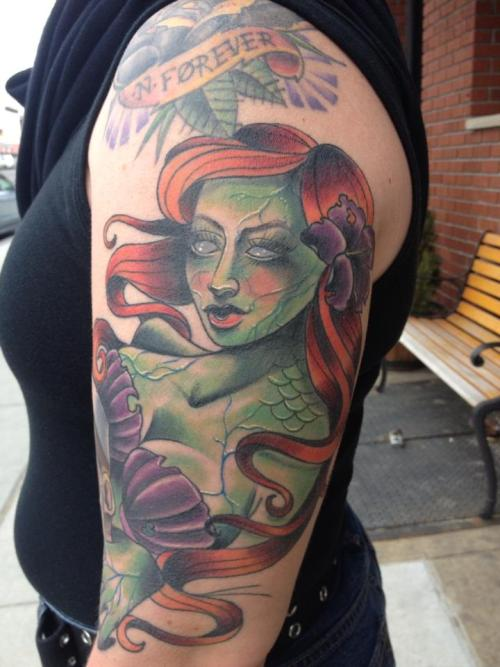 rachaelshellytattoos:  Zombie mermaid.