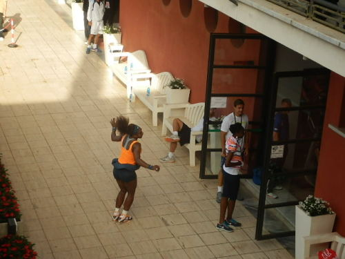 luciluci-rf:  Pics I took yesterday in Rome!Serena spoiling her sister's photos!! :D GENIUS! :D   Sillyrena strikes again…