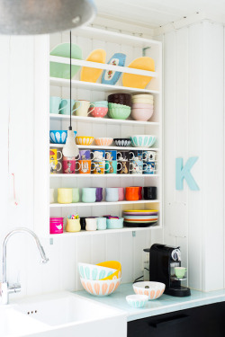 Colourful Dinerware via Fjeldbord