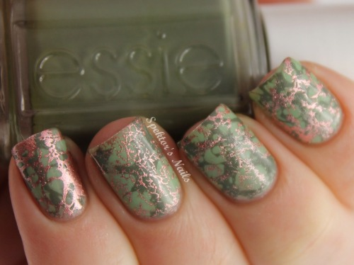 spektorsnails:  Water Spotted Nails using Sweet Color - 337 from Born Pretty Store