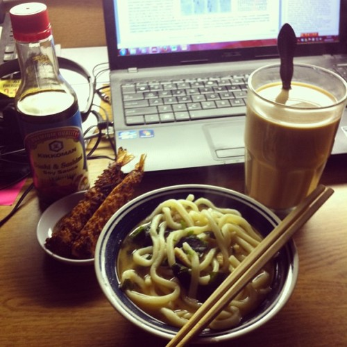 The day is not past yet. Happy 23th #birthday to me! #udon #noodle