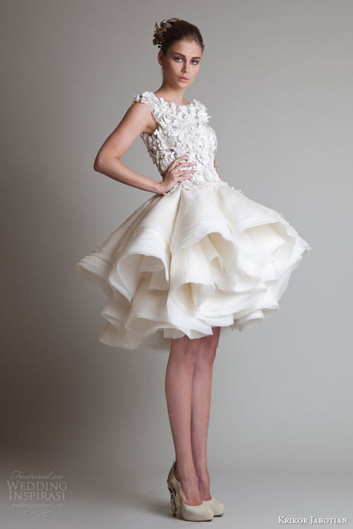bride gown hair wedding ruffled short dress wedding dress
