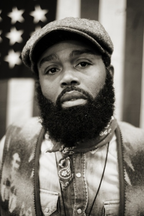 beardedandblack:  One of the mightiest beards out there. Ouigi Theodore  <3___<3