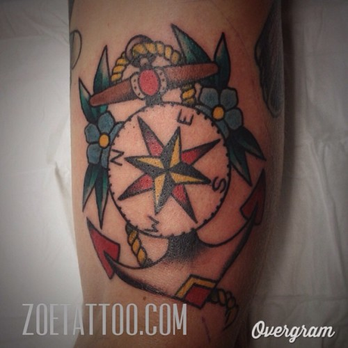 Another distorted #anchor #thirdeyetattoo #thirdeyemelbourne #zoetattoo  (at Third Eye Tattoo)