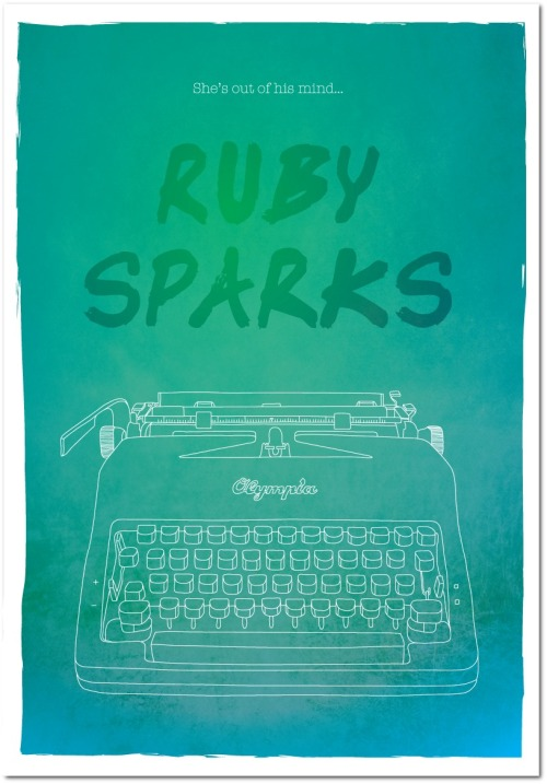 settlesettle:  Film poster I created for Ruby Sparks. Hoping to get some of these printed and sold at some point soon. Message me if you want one! www.stefjohnson.com