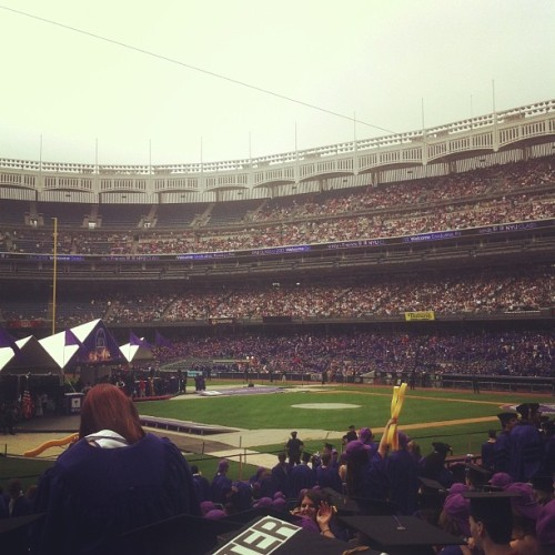 About to hear 2 hours of speeches #NYU #graduation