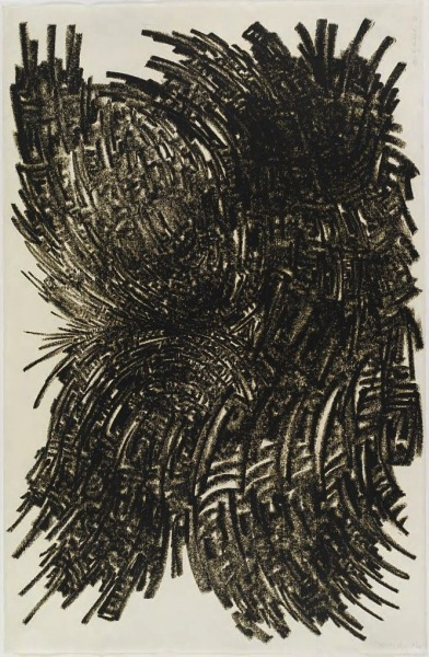 blue-voids:  Martin Kline - Untitled oil stick drawing, 2002