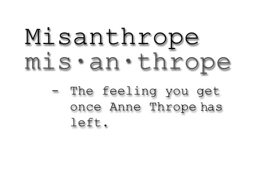 kingsnorthlobotomy:  Misanthrope defined by Scott Kingsnorth