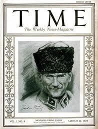 Dünyanın en saygın dergilerinden Time, 90. yılını kutladığı son sayısı için seçtiği 90 dergi kapağı arasında ilk sıraya Atatürk 'ü koydu.Dergi, 'Time 90. Yaşında: 90 Kapak Hikayesiyle Modern Tarih Hakkında Bilmeniz Gereken Her şey başlığı' ile hazırladığı sayfada, ilk sırayı Mustafa Kemal Atatürk'ü yayınladığı baskısına ayırdı.Dergi, 24 Mart 1923 tarihli baskıda yer alan Atatürk için ' Osmanlı İmparatorluğu 'nun kü