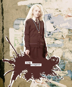 "THE MAGIC BEGINS  1 - Favourite character. Luna Lovegood  "" She had straggly, waist-length, dirty-blond hair, very pale eyebrows, and protuberant eyes that gave her a permanently surprised look. Harry knew at once why Neville had chosen to pass this compartment by. The girl gave off an aura of distinct dottiness. Perhaps it was the fact that she had stuck her wand behind her left ear for safekeeping, or that she had chosen to wear a necklace of butterbeer caps, or that she was reading a magazine upside down."" in Harry Potter and the Order of the Phoenix."